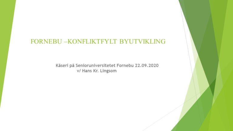 Hans Kristian Lingsom - Tittelslide foredrag